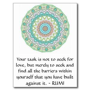 Regel van de dertiende-eeuwse Perzische sufi-dichter Rumi.