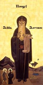 Antonius Abt (of: van Egypte, 251-356 na Chr.) leefde als asceet in de woestijn en geldt als de vader van het monnikendom.