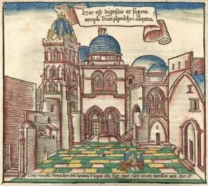 Heilig Grafkerk in Jeruzalem, klik om te vergroten.