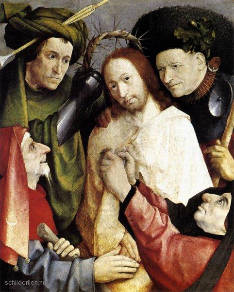 De bespotting van Jezus als koning. Jeroen Bosch, 1495.