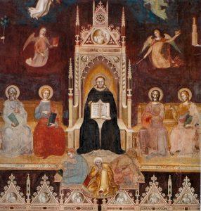 Thomas van Aquino o.p. (1225-1274), verbeeld door Andrea di Bonaiuto, 1366.